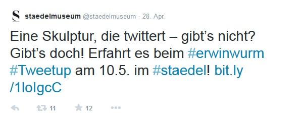 Erwin Wurm Städel Tweetup