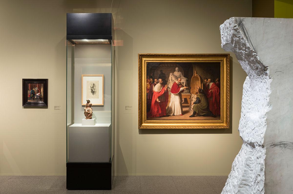 """Ausstellungsansicht """"DER GÖTTLICHE – Hommage an Michelangelo"""" Bundeskunsthalle Bonn"""