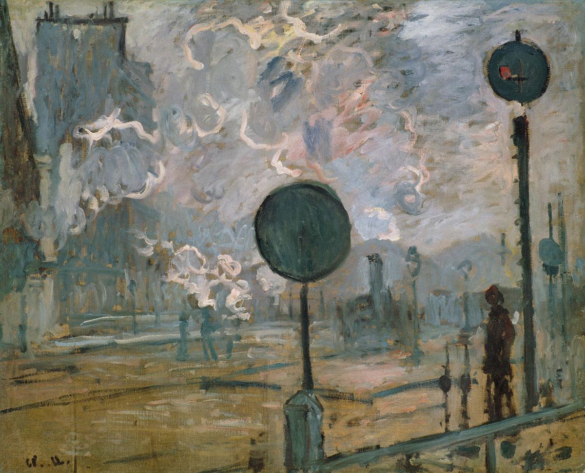 Claude Monet, Außerhalb des Bahnhofs Saint-Lazare (Das Signal), 1877