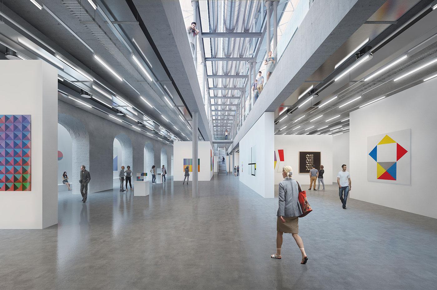 Neubau Museum für Konkrete Kunst und Design Ingolstadt Museumsbereich