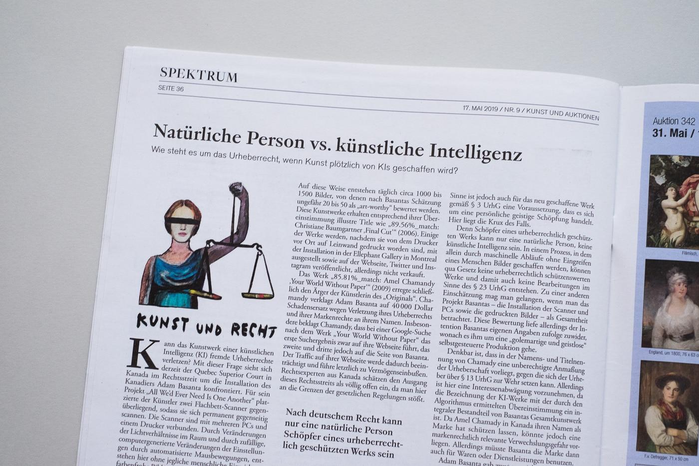 KUNST UND AUKTIONEN - Kunst und Recht