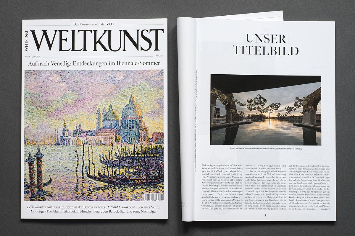 Weltkunst Magazin - Unser Titelbild