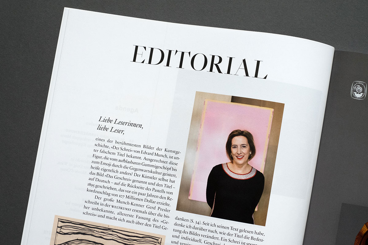 Weltkunst Magazin - Editorial