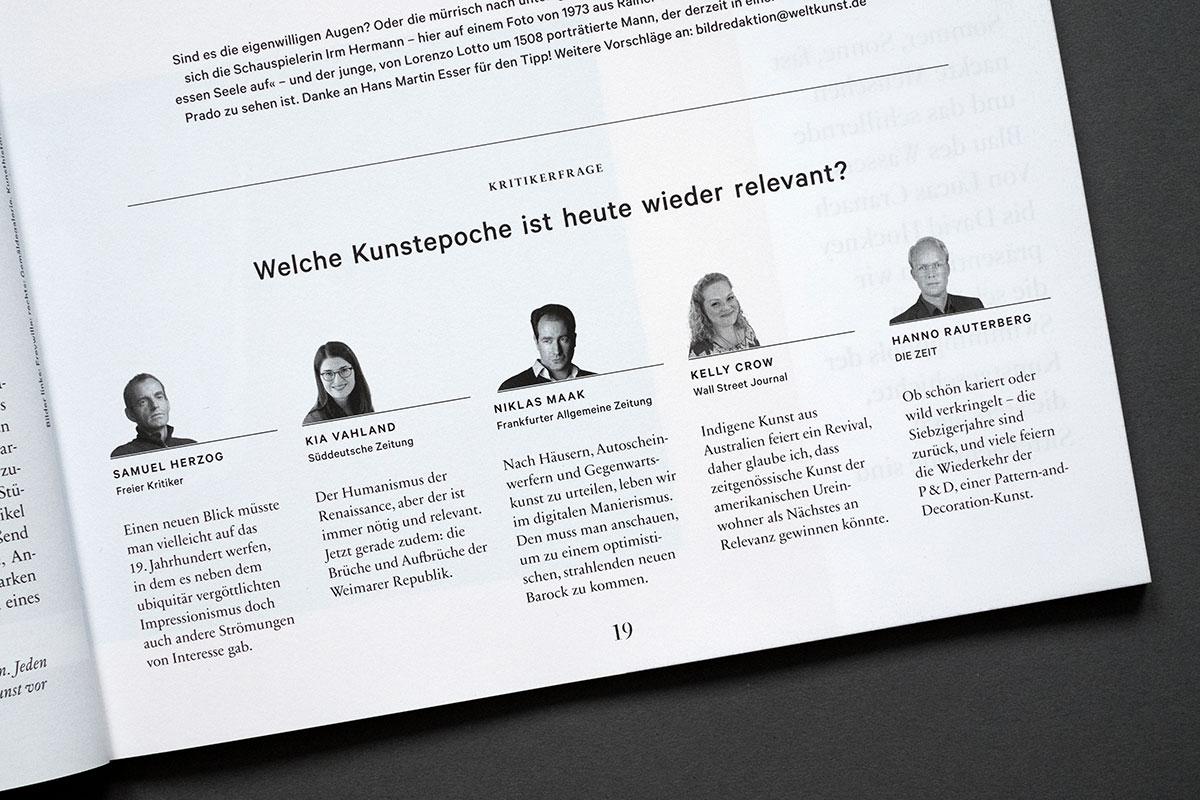Weltkunst Magazin - Kritikerfrage