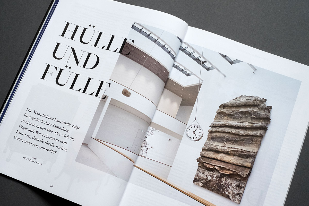 Weltkunst Magazin - Kunsthalle Mannheim