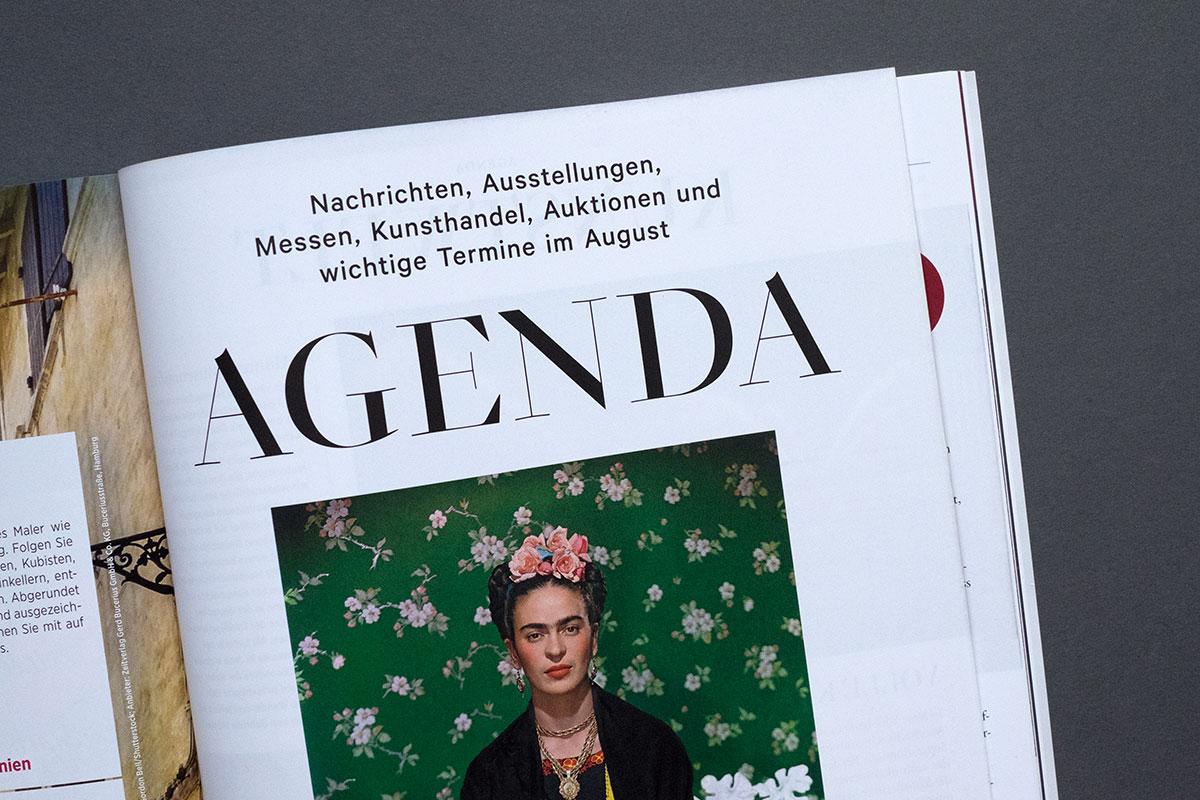 Weltkunst Magazin - Agenda