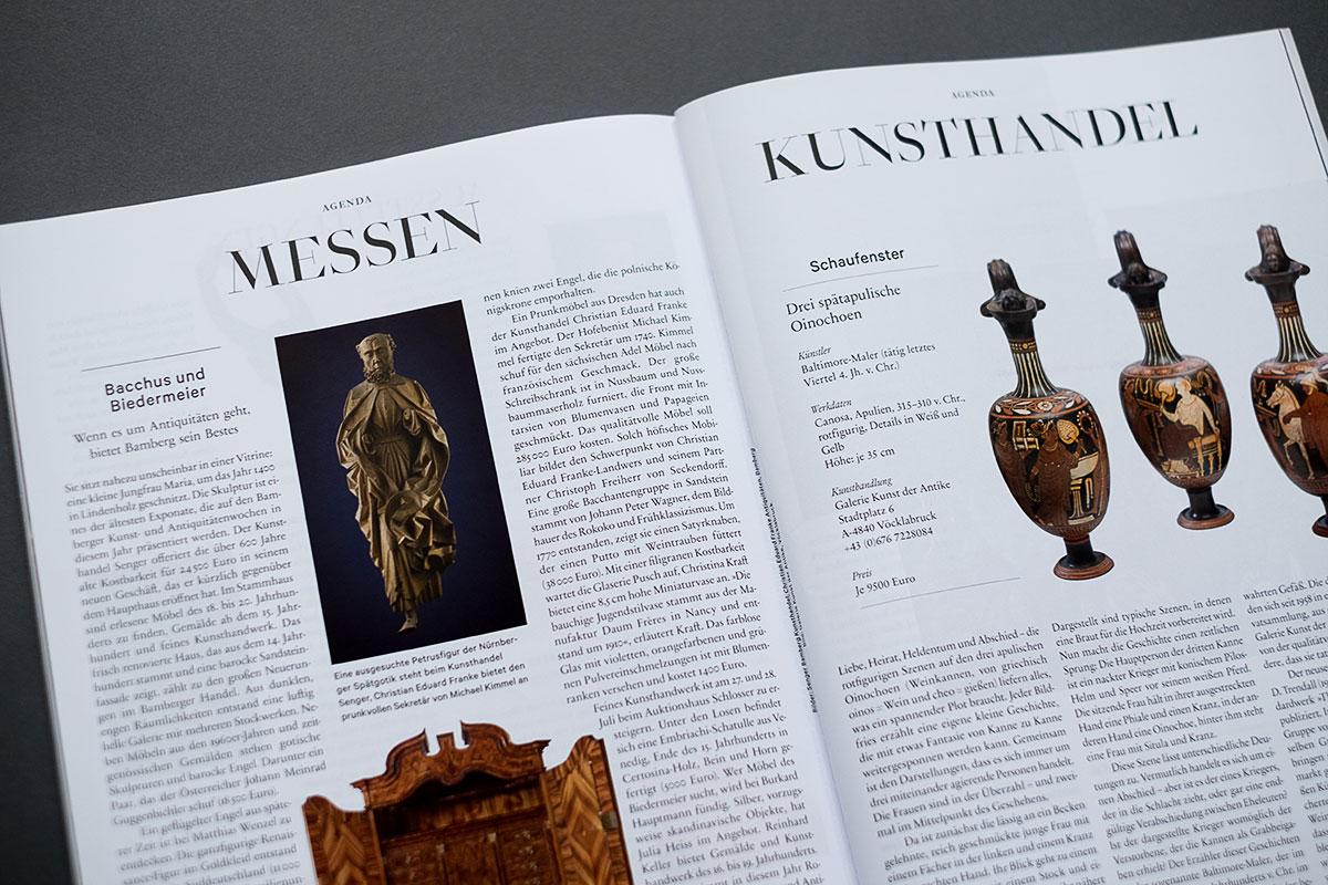 Weltkunst Magazin - Messen und Kunsthandel